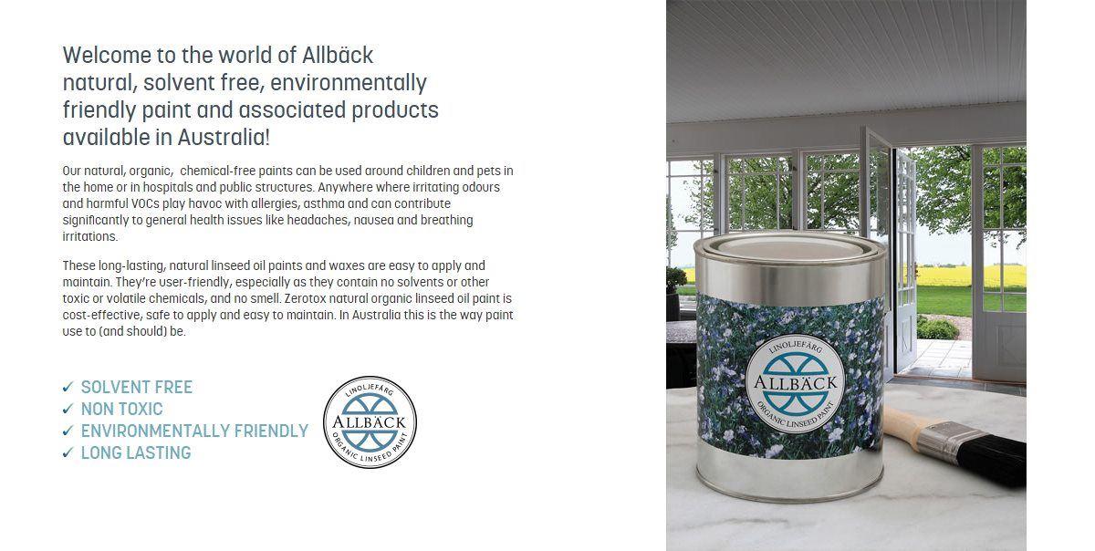 Allback organic linseed oil paint