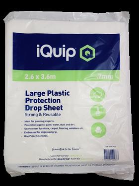 Picture of iQuip Plastic Drop Sheet Transparent 3.6X2.6M