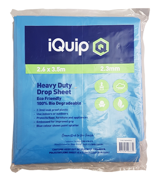 Picture of iQuip Plastic Heavy Duty Drop Sheet Blue 3.6X2.6M