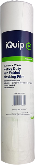 Picture of iQuip Prefolded Plastic Masking Film 1810mm X 27M
