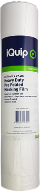 Picture of iQuip Prefolded Plastic Masking Film 2700mm X 27M
