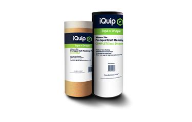 Picture of iQuip Pretaped Kraft Masking Paper Disp. 300mm x 25m