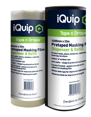 Picture of iQuip Pretaped Masking Film Refill 1800mm X 33M