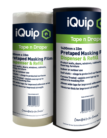 Picture of iQuip Pretaped Masking Film Refill 2700mm X 17M