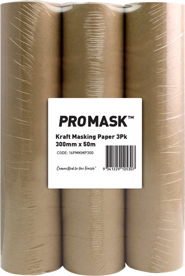 Picture of iQuip Promask  Kraft Masking Paper 144mm x 50m 3 Pack